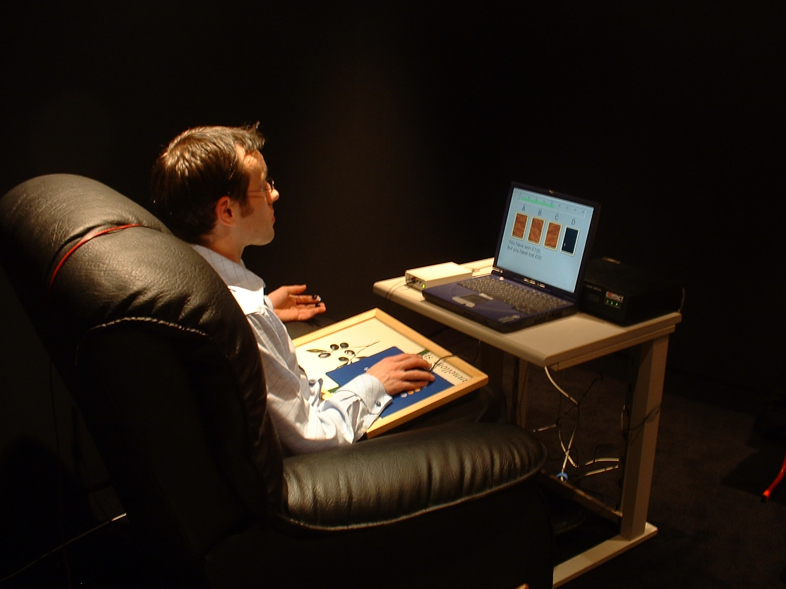 Participant in a study investigating emotional responsiveness and anomalous intuition at the University of Northampton