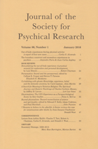 Journal of the Society for Psychical Research cover thumb