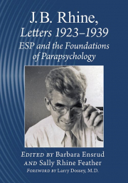 Cover of J.B. Rhine. Letters 1923–1939: ESP and the Foundations of Parapsychology