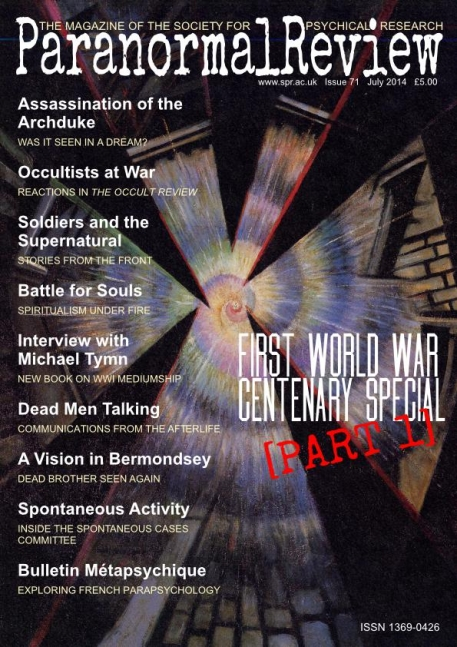 WWI Paranormal, Part 1 - Paranormal Review 71 (July 2014)