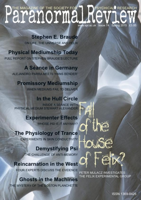 Fall of the House of Felix - Paranormal Review, 74 (Spring 2015)