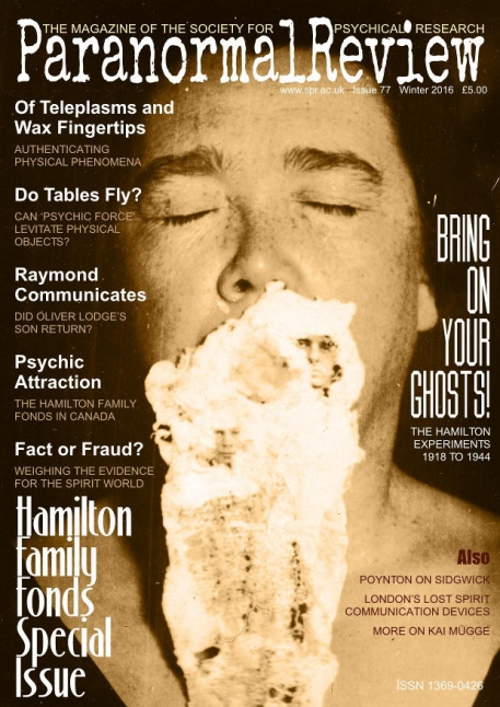 Hamilton Family Fonds - Paranormal Review, 77 (Winter 2016)